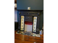 Cast iron fire surround & mantle