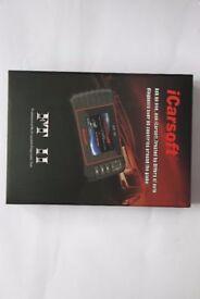iCarsoft FT II Fiat & Alfa Romeo handheld Diagnostics, Service reset, Airbag, Transmission, abs