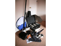 Studio photography equipment - large lot of lighting, stands and accessories