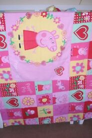 Peppa Pig Single patchwork print duvet cover and pillowcase.