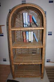 Shelving Unit/Bookcase in wicker
