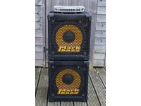 Bass Rig - GK MB500 amp + 2 x Markbass NY121 cabs
