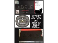 Centre Stage lower tier fantastic seats BLOCK 123. ADELE FINAL SHOW 2 JULY