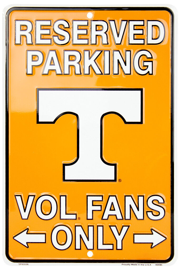 Reserved Parking Texas Longhorns Fans Only Aluminum Metal Sign Man Fan Cave