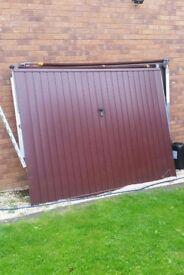 """Essex garage door. Gemini wood colour. 2.438 m x 1.930m (8'x6'4"""")"""