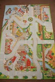 ELC Big City Carpet Car Mat + ELC Big City Foldable Playmat + Lego City Felt Fire Engine Mat