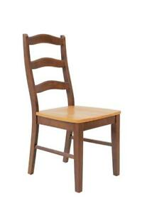 Two Sturdy Dining Chairs In Espresso And Cinnamon