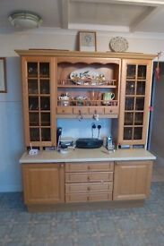 Kitchen Units and Dresser for sale