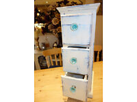 Vintage, rustic, shabby chic, three-drawer, chest of drawers