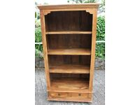 Solid Wood Fruitwood Bookcase / Shelving Unit