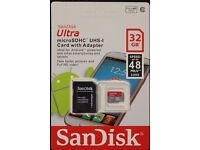 SanDisk 32GB Micro SD Card 48MB/s UHS-1 SDHC TF Memory Card+ Adaptor