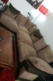 Large corner sofa and puffe