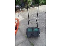 POWERBASE HAND PUSH LAWN MOWER WITH GRASS NET ONLY USED A COUPLE OF TIMES
