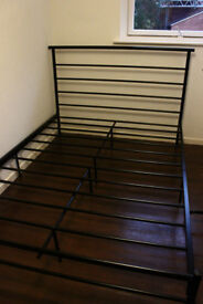 Metal double size bed frame