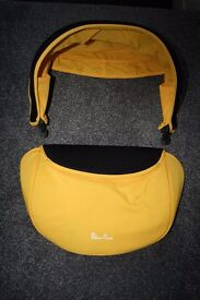 Silver Cross Simplicity car seat HOOD AND APRON SET SPARES - Yellow CAN POST