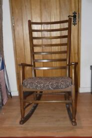 antique Ladder back rocking chair