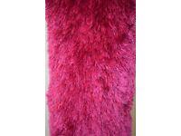 Pink Silk Shaggy Rug - £19.99
