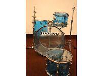 Ludwig 1970's USA Vintage Blue Vistalite Complete Drum Kit / Original Stands