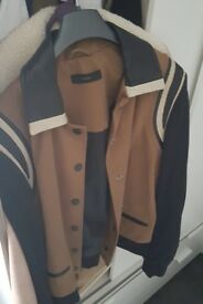 Rare DIESEL Women's Jacket with Tan Leather Detail, Medium (10/12)
