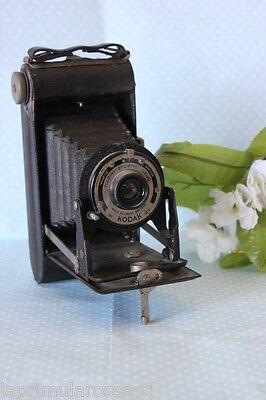 VECCHIA MACCHINA FOTOGRAFICA KODAK FOLDING BROWNIE SIX - 20 mod. KODETTE