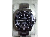Rolex submariner 40mm black face luxury automatic divers watch brand new in Swiss box stunning