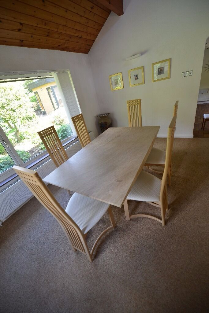 Luxury dining table and chairs