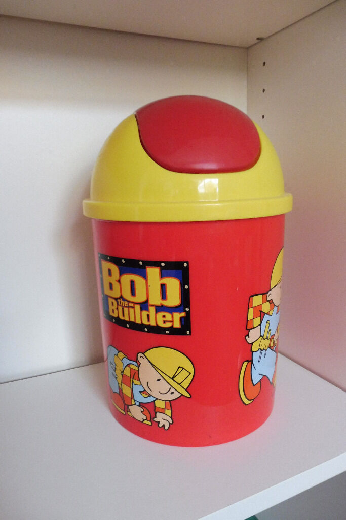 bob the builder binin Knowle, BristolGumtree - bob the builder bin with lid and a swinging top ideal for bedroom just sadly outgrown knowle