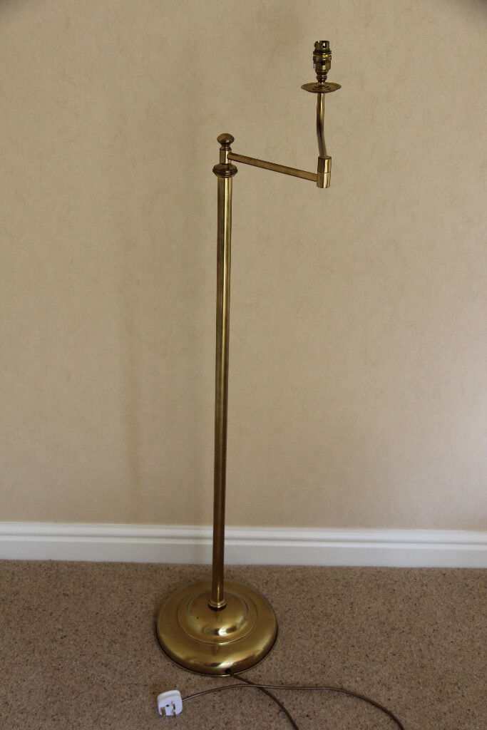 Christopher wray brass floor lamp