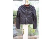 Ladies Brown Superdry Biker Style Leather Jacket Size M