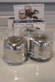 New Stainless Steel Salt & Pepper Shakers
