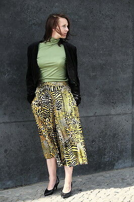 Damen Hose Hosenrock Rock pants Gr. 36 Leoparden 90er True VINTAGE 90´s trousers