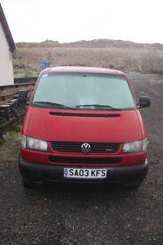 VW Transporter (Caravelle) 2003 Minibus (9 seat) European Import. Left Hand Drive