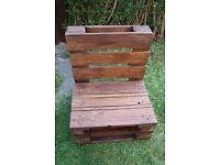 Wooden pallets bench