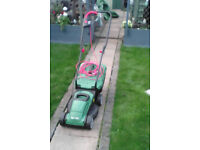 Qualcast 1200 watt lawnmower, complete with the grassbox