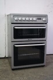 Hotpoint Silver 60cm Ceramic Top Cooker Immaculate Condition 12 Month Warranty