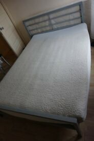 Metal double bed frame + Double mattress together or separately