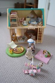 Bundle of Sylvanians: nursery, cottage, baby characters, accessories, toys and games, beds and nanny