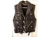 Leather Waist Coat Jacket Hand Made - One Off, Motorcycle, Bike, Club, Fetish
