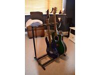 Padded guitar rack for 6 guitars