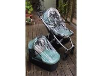 Uppababy Vista Pram and Accessories £250 - 2013 gently used green Uppababy Vista