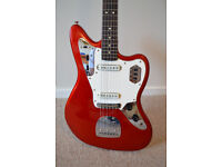 Squier by Fender Vintage Modified Jaguar Guitar - Candy Apple Red *RARE*