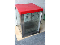 Parry heated display cabinet with 3 shelves. 500x500x720mm