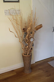 Large Ceramic Vase with Wicker Cover only £10
