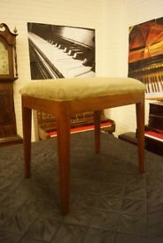 Antique walnut piano stool