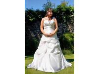 Beautiful Phil Collins wedding dress