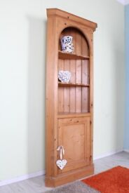 DELIVERY OPTIONS - LOVELY SOLID PINE FARMHOUSE CORNER UNIT QUALITY SOLID WAXED
