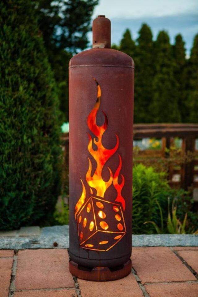 Edelrost  Feuerlicht   Deko  Grill  Feuer Garten  Rost  Design in Saarland - Schiffweiler