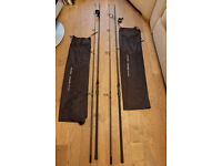 2 x Chub Outkast 50 - 12'6 3.25lb Carp fishing rods