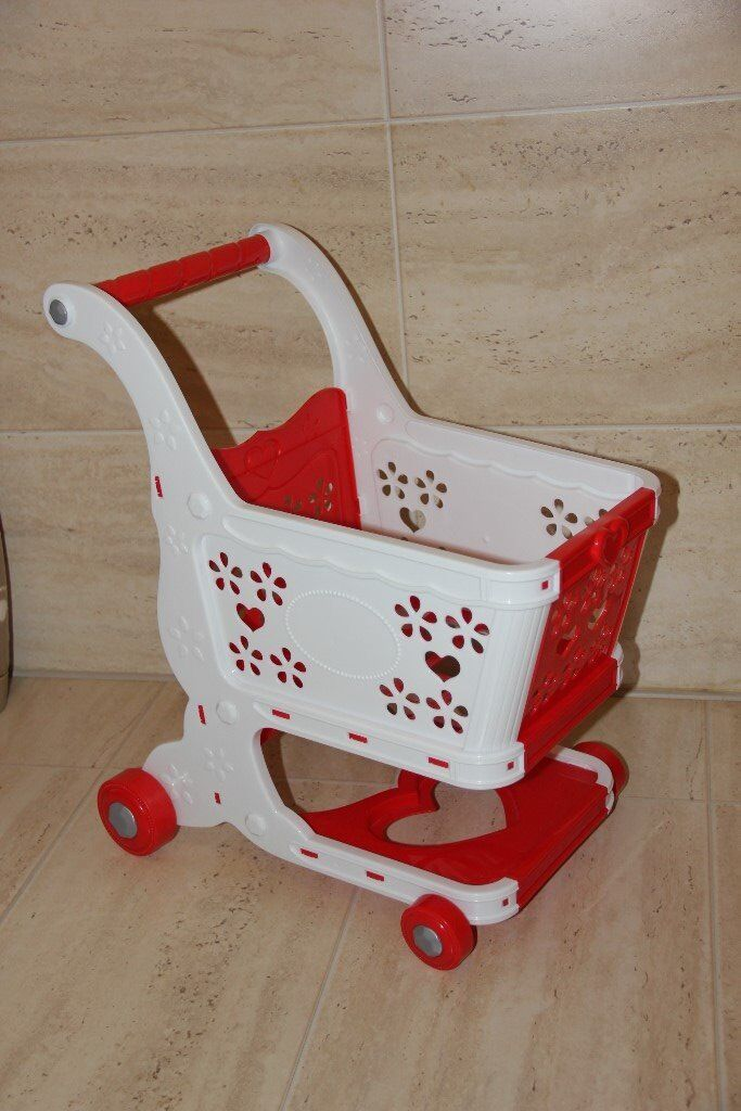 **TWO KIDS/TODDLERS SHOPPING TROLLEYS.VGC**