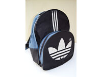 Original 90's ADIDAS Backpack Rucksack - Black, Blue and White - FAB!
